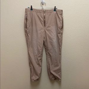 Free People Exposed Zip Cotton Joggers Sz Medium
